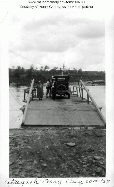 Allagash Ferry, 1927