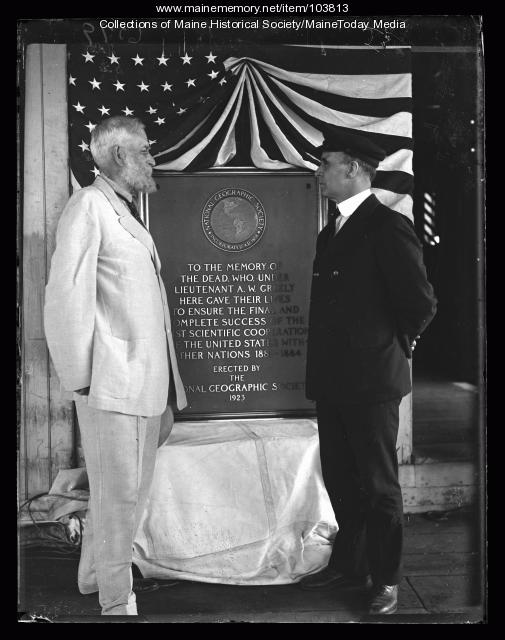 General Adolphus W. Greely and Captain Donald MacMillan, Wiscasset, 1923