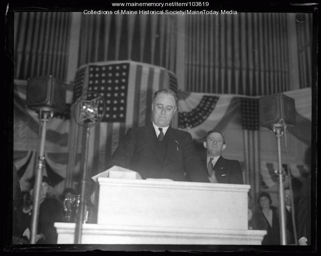 FDR asks Mainers for vote, Portland, 1932