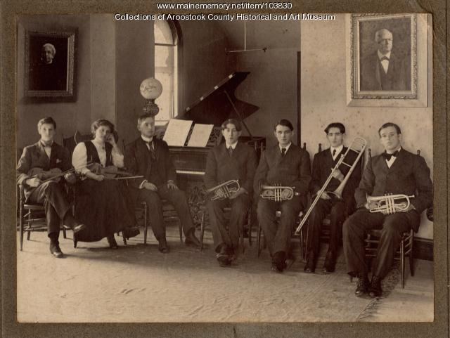 Ricker Classical Institute music room, Houlton, ca. 1901