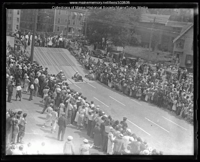 Evening Express Soap Box Derby, Portland, 1936
