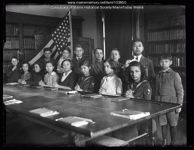 Americanization class, Portland, 1923