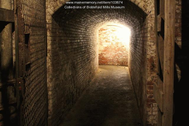 Pepperell Mill #3 brick tunnel, Biddeford, 2015