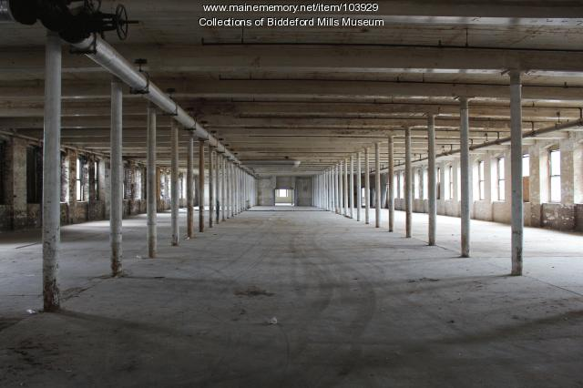 Pepperell's vacant Mill #2, Biddeford, 2015