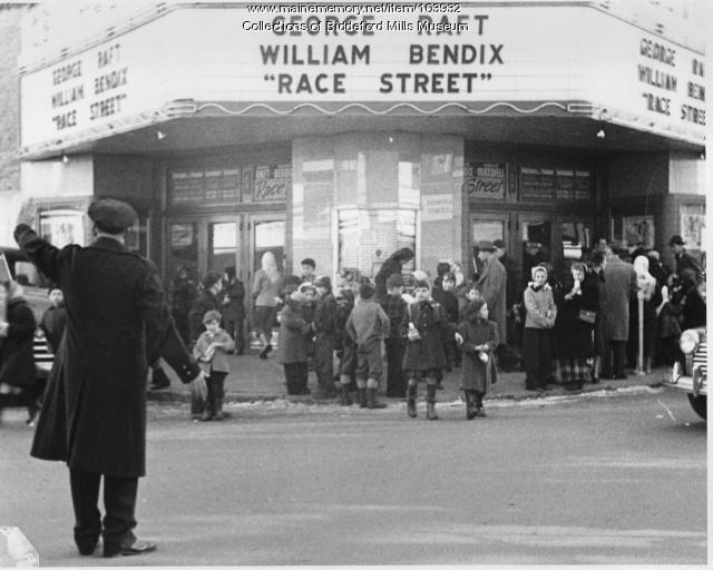 Christmas party at Central Theater, Biddeford, ca. 1948
