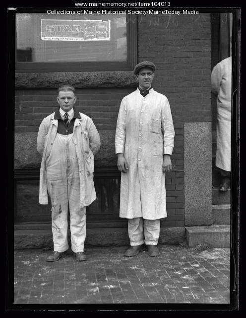Raymond Meserve and Earl Huston, Portland, ca. 1925