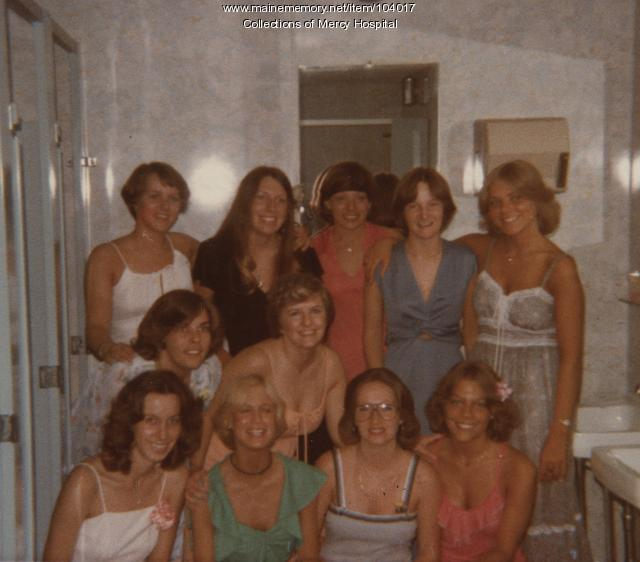 Mercy School of Nursing students, Portland, 1977