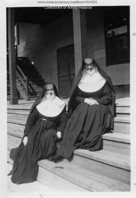 Sister Claire and Sister M. Marcia, Little Diamond Island, 1950