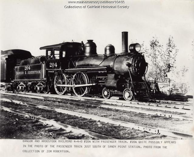 Bangor and Aroostook engine 204, c. 1905