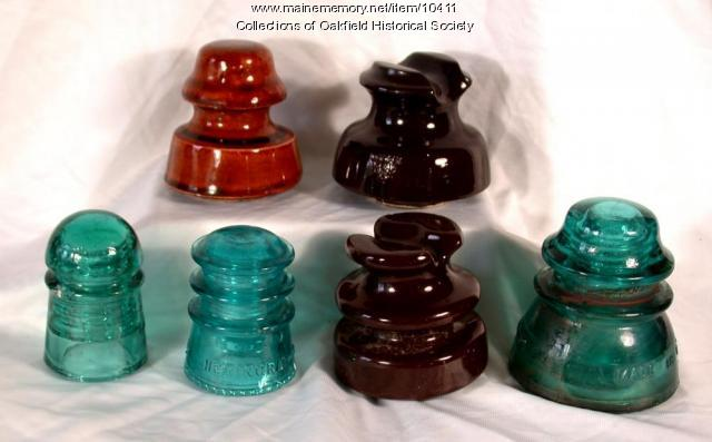 Telegraph pole insulators, ca. 1930