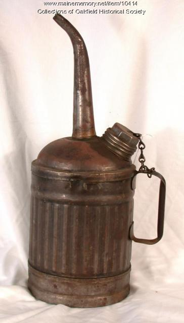 Railroad oil can, c. 1900