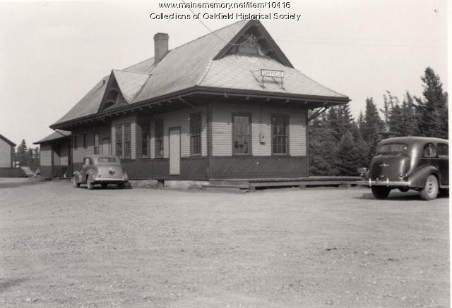 Oakfield Bangor and Aroostook Railroad Station, ca. 1942