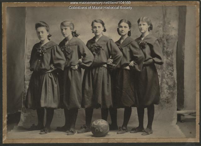 Millinocket High School, Girls Basketball Team, Millinocket, 1906