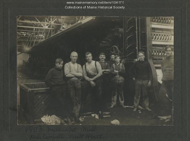 Paper mill workers, Millinocket, 1903