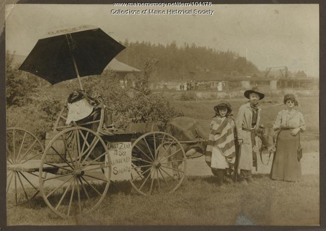 Uncle Zeke's sightseeing tour, Millinocket, ca. 1920