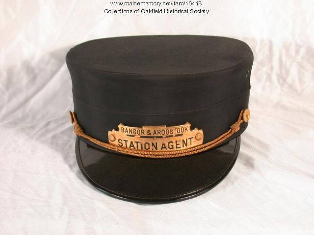 Bangor and Aroostook Railroad Station Agent Hat, c. 1930
