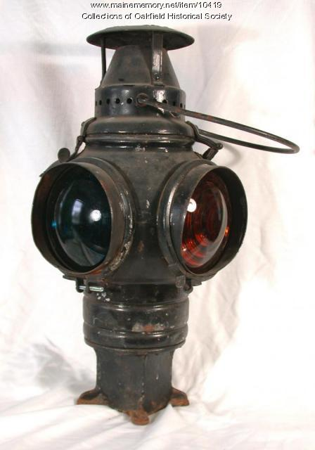Bangor and Aroostook Railroad switch lantern