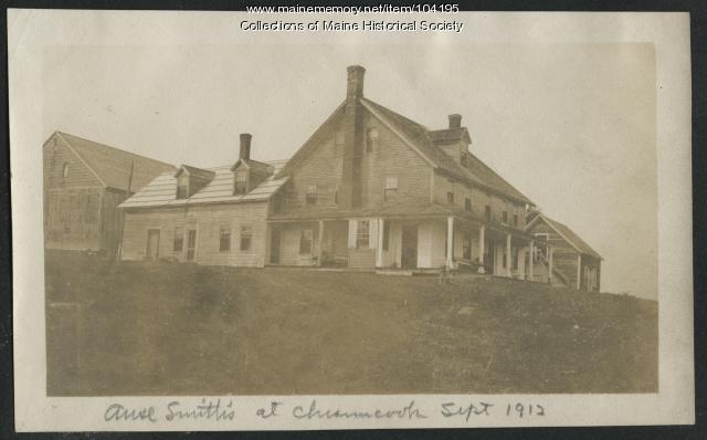 Ansel Smith's house, Chesuncook, 1912