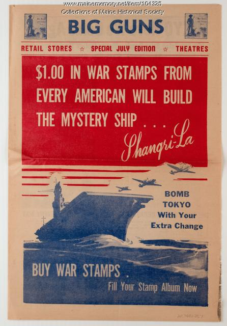 "An issue of ""Big Guns"" for selling war stamps, World War II pamphlet, ca. 1943"