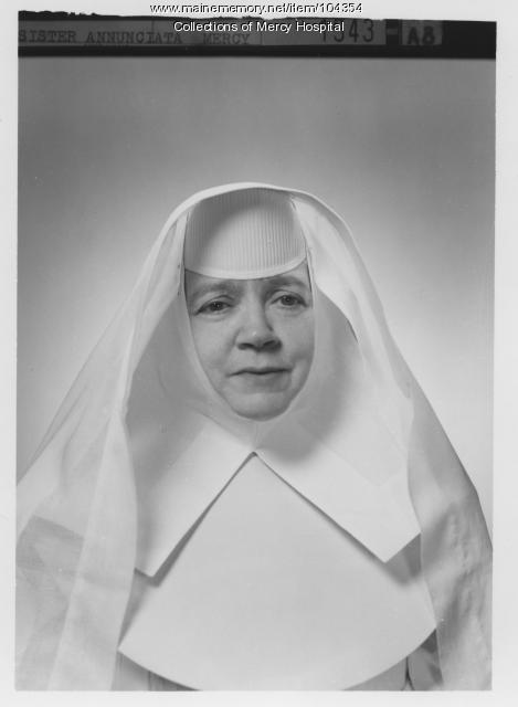 Sister Annunciata, Portland, ca. 1940