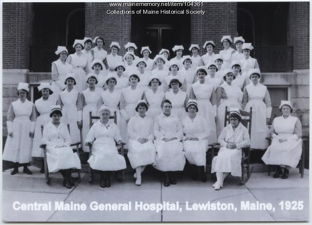 Central Maine General Hospital nurses, Lewiston, 1925