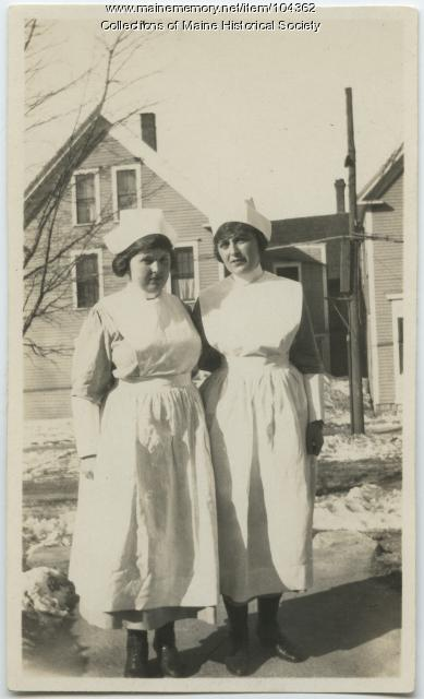 Two nurses in Lewiston, ca. 1923