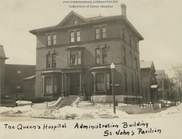 Queen's Hospital administration building, Portland, ca. 1930