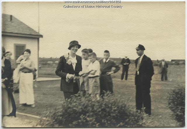 Amelia Earhart's visit to Maine airports, 1933
