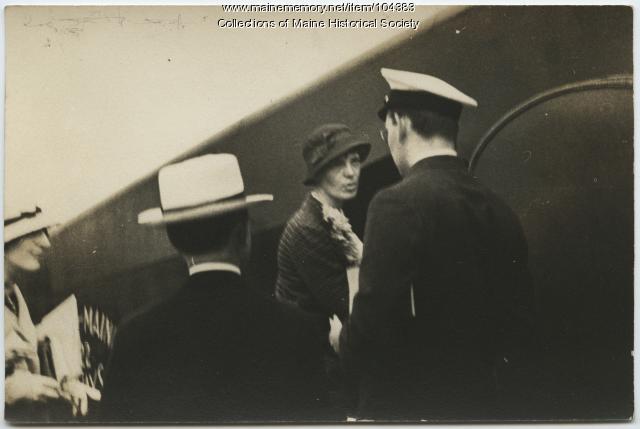Amelia Earhart at Scarborough Airport, 1933
