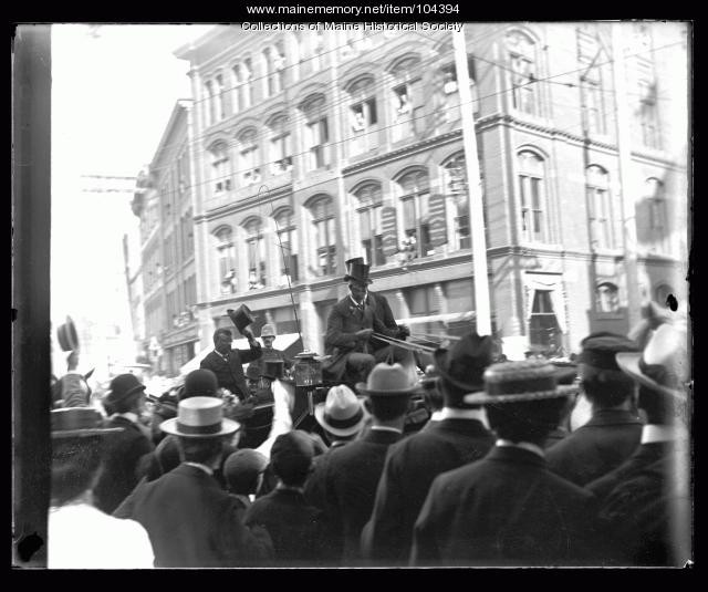 President Theodore Roosevelt in Monument Square, Portland, 1902