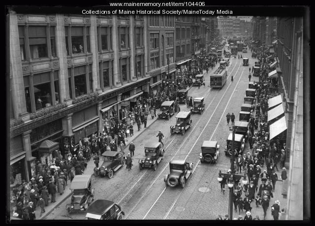 Congress Street, Portland, 1921