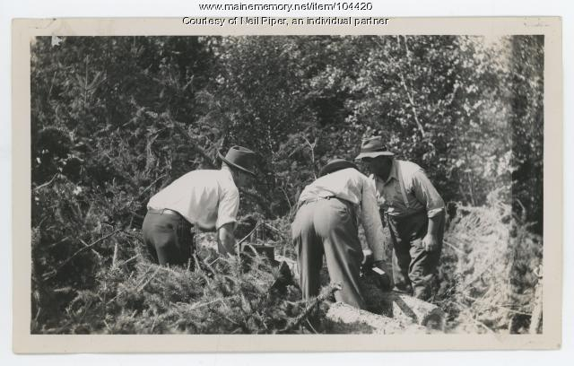 Field day with chain saws, Troy, ca. 1942