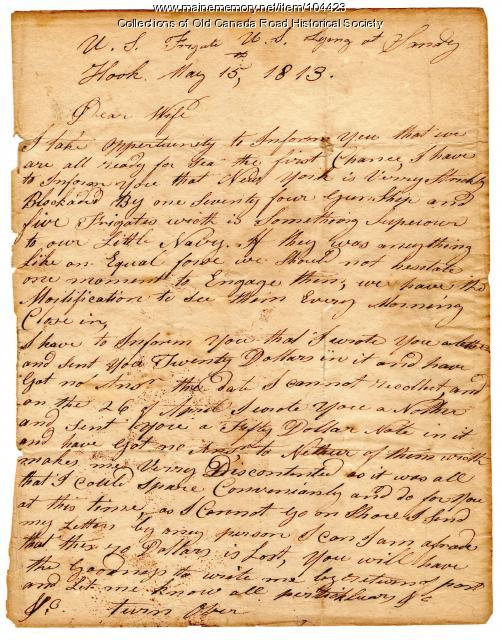 John Hardy on War of 1812 naval battles, Sandy Hook, New York, 1813
