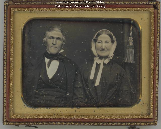 Daguerreotype of an elderly couple, Portland, ca. 1852