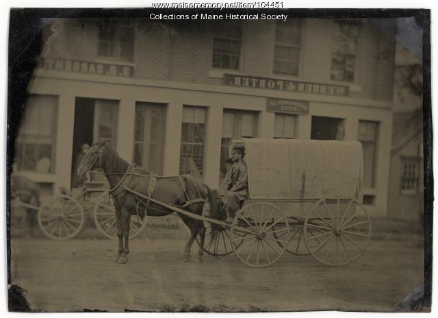 Webber & Porter building, Searsport, ca. 1874