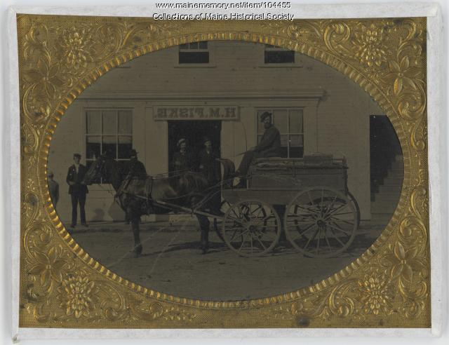H.M. Fiske drygoods store, North Waterford, ca. 1865