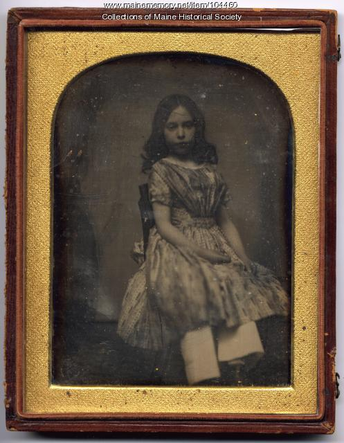 Daguerreotype of Sarah Sullivan Richards, Gardiner, ca. 1847