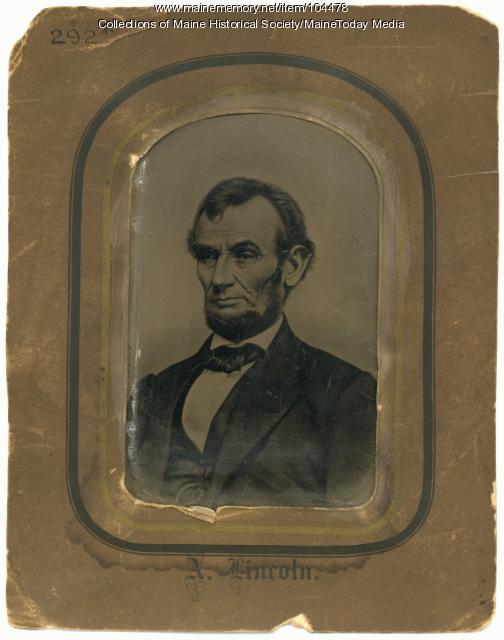 Tintype portrait of Abraham Lincoln, ca. 1864