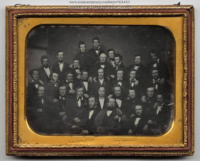 Log Cabin and Hard Cider Club, Portland, ca. 1850