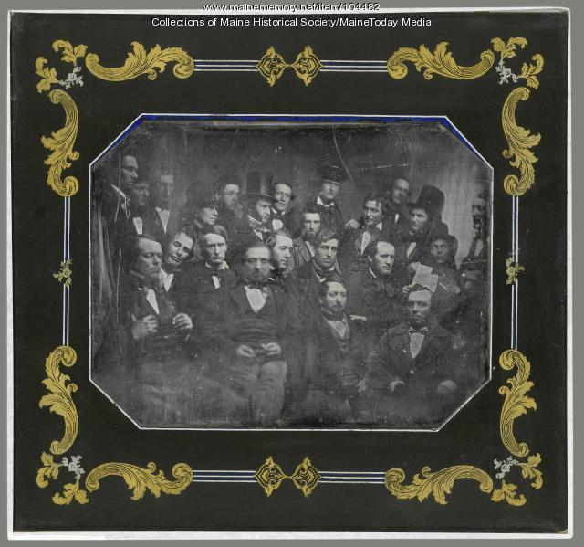 Log Cabin and Hard Cider Club, Portland, ca. 1853