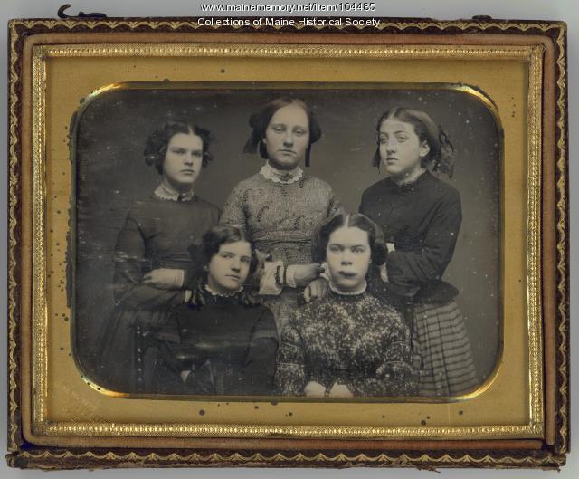 Five young women, ca. 1855