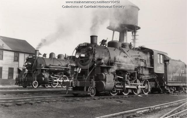 Bangor and Aroostook Railroad engines 142 and 172, c. 1940
