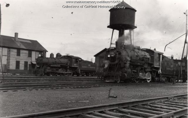 Bangor and Aroostook Railroad engines 195 and 85