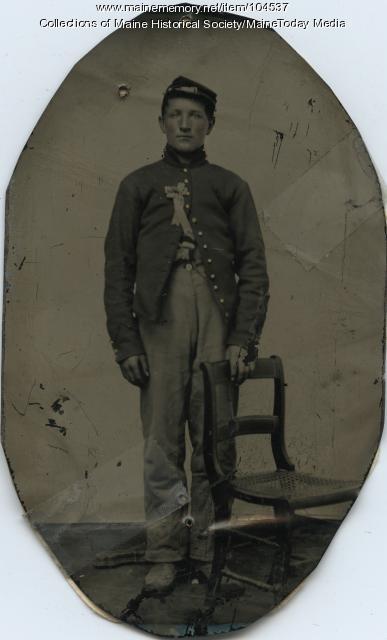 Pvt. Loring Marriner prior to Civil War service, ca. 1863