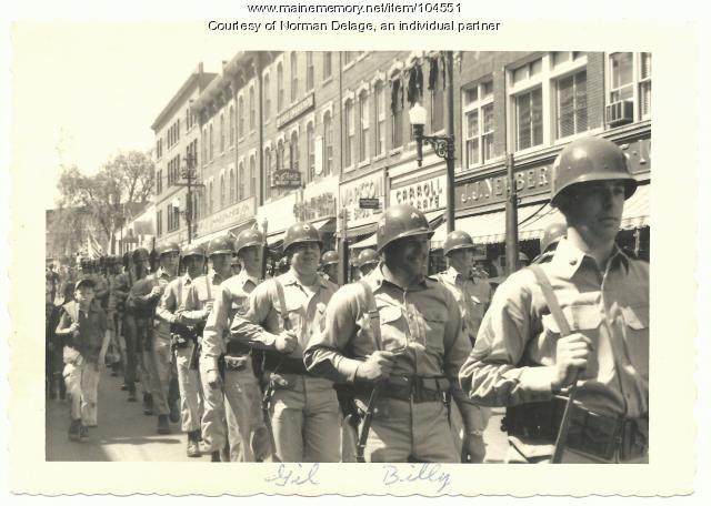 Parade on Main Street, Biddeford, ca. 1948