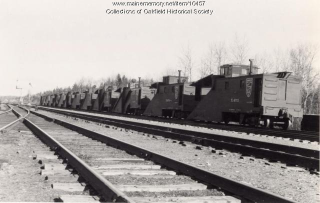 Bangor and Aroostook Railroad snowplows, ca.1940