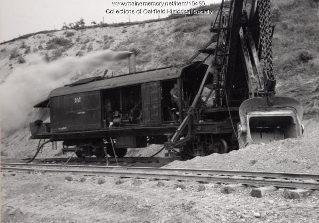 Bangor and Aroostook Railroad steam shovel