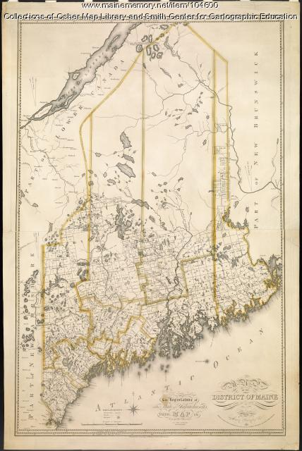 Map of the District of Maine, 1815