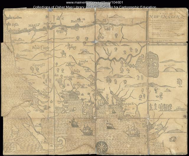 Map of New England, 1677