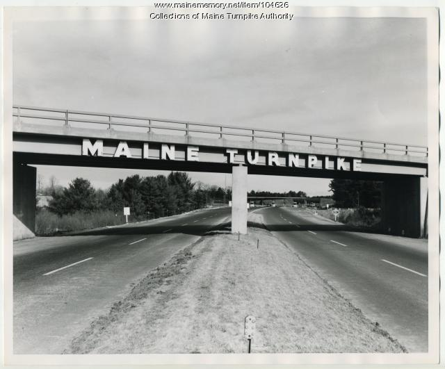 Maine Turnpike gateway sign, Kittery, 1947